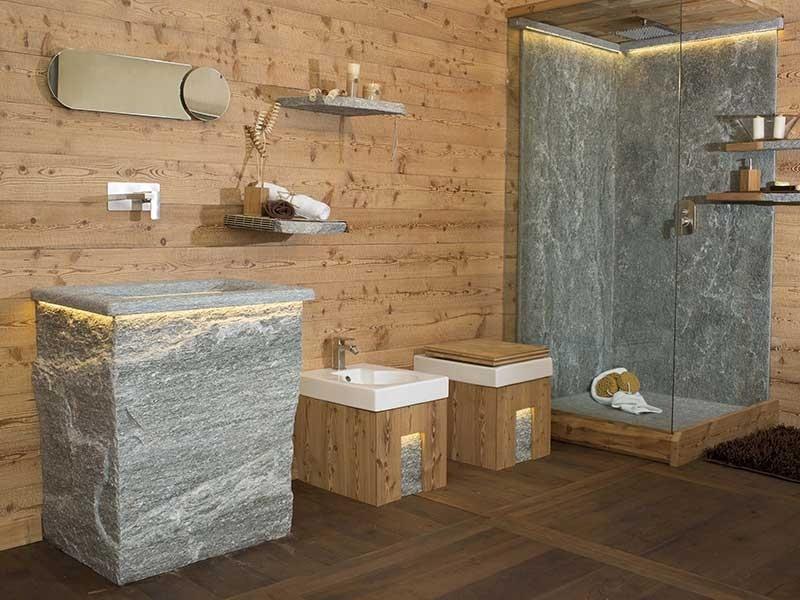 Lavorazione pietre naturali varallo vercelli for Bagni in legno e pietra